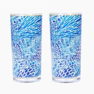 {Lilly Pulitzer} Set of 2 Acrylic Highball Glasses